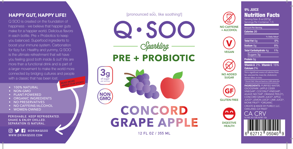 Grape Apple Pre+Probiotic Tonic (12 bottle case)