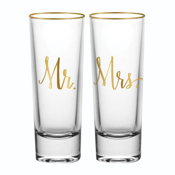 Mr. & Mrs. Shot Glasses