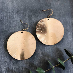 Hammered Disks Earrings