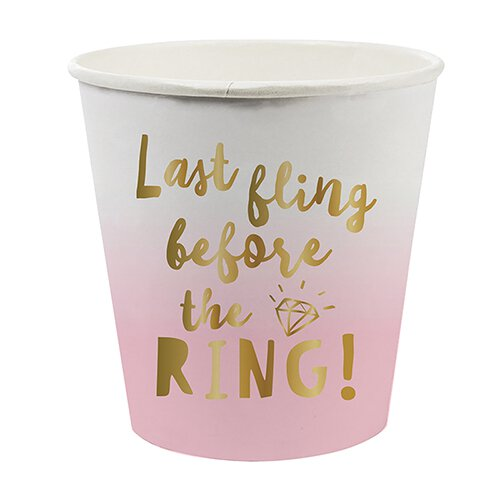 Paper Shot Glasses- Last Fling Before the Ring