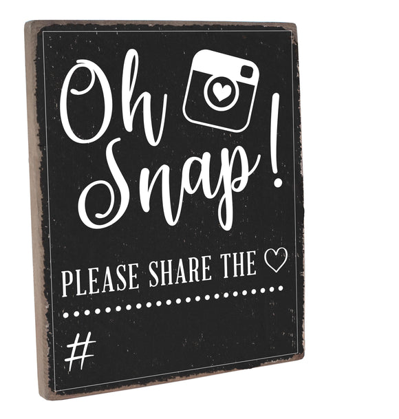 Share The Love Chalkboard Plank