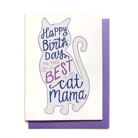 Cat Mom Birthday Card