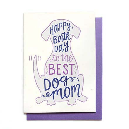Dog Mom Birthday Card