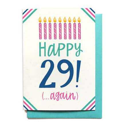 29th Birthday Card