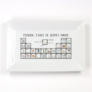 Jersey Shore Periodic Table Porcelain Platter