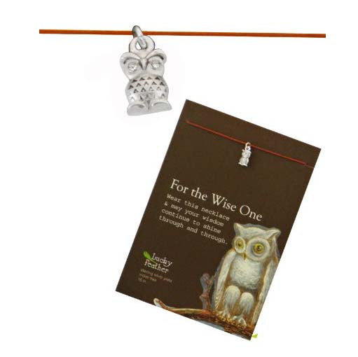 For The Wise One Linen Cord Inspirational Message Necklace