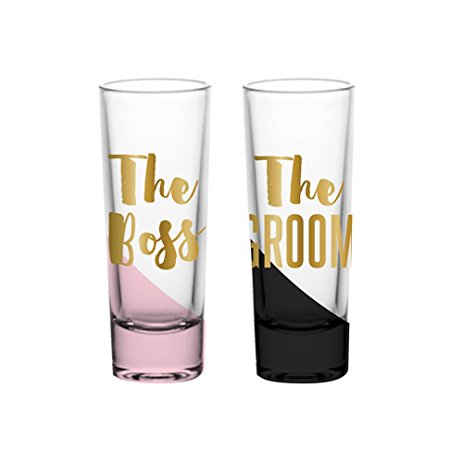 The Boss & The Groom Shot Glasses