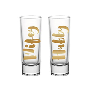 Hubby & Wifey Shot Glasses
