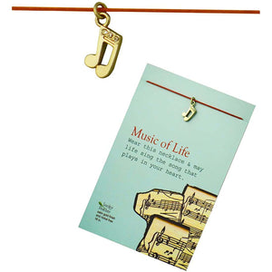 Music of Life Charm inspirational Card Necklace