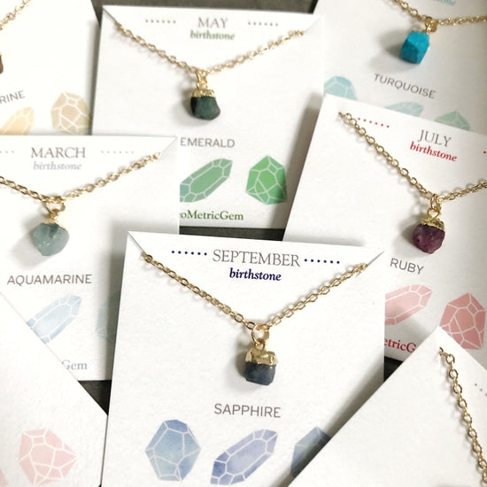 Birthstone Necklaces- Raw Stones