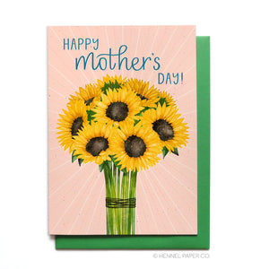 Mother's Day Card - Sunflower Bouquet