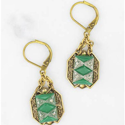 Mirabeau in Jade Earrings