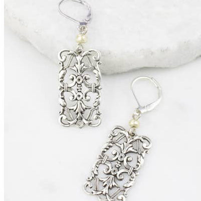 Baroque Dream Silver Earrings