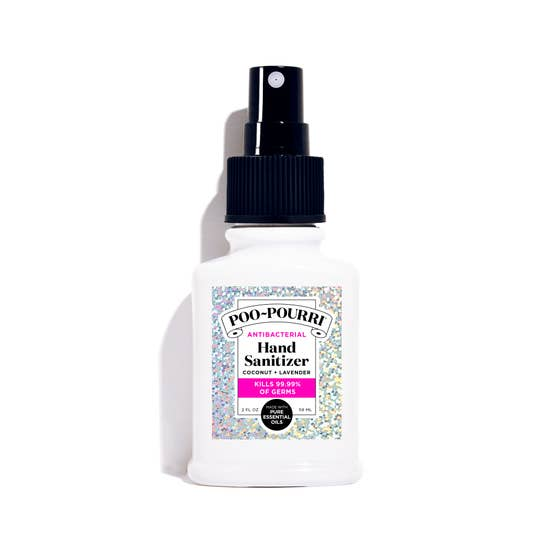 Hand Sanitizer 2oz SILVER SPARKLE