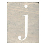 Rustic Block Letters Grey Wash A - Z