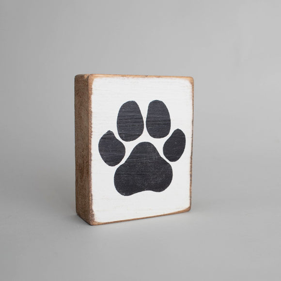 Paw Print Black and White