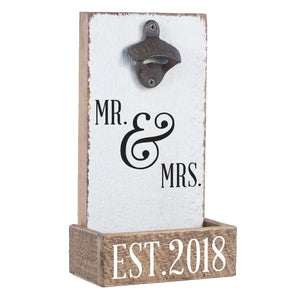 Mr. & Mrs. EST 2018 Bottle Opener