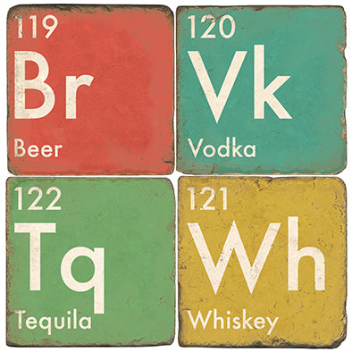 Alcohol Elements Coasters