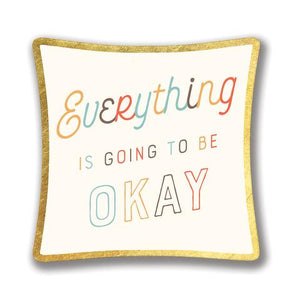 Everything Is Going to Be Okay Small Glass Trinket Dish