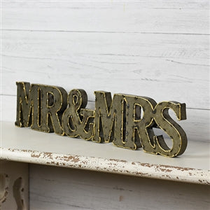 Mr. & Mrs. Tin Sign