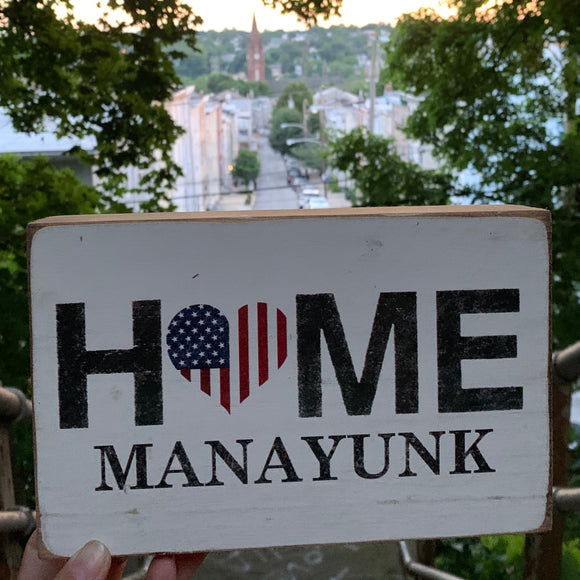 Home Flag Heart Manayunk/Philadelphia Block