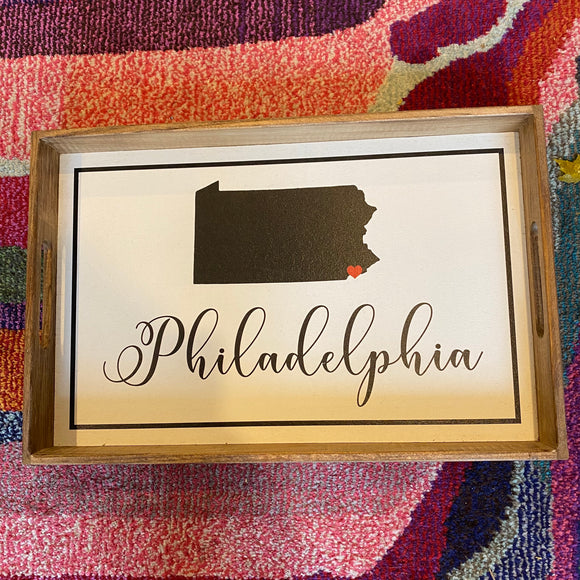Philadelphia Rustic Serving Tray