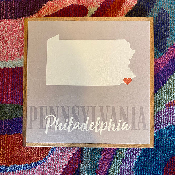 Personalized PA/Philadelphia Vintage Square