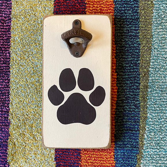 Rustic Paw Themed Bottle Opener