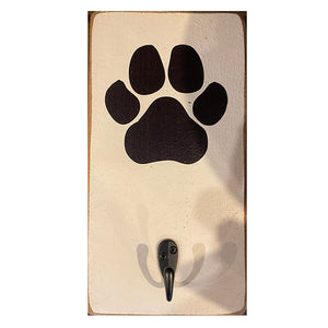 Paw Print Black and White Hook