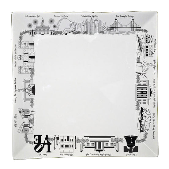 Philadelphia Small Square Plate
