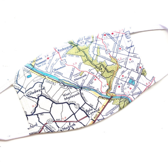 Manayunk Map Face Mask
