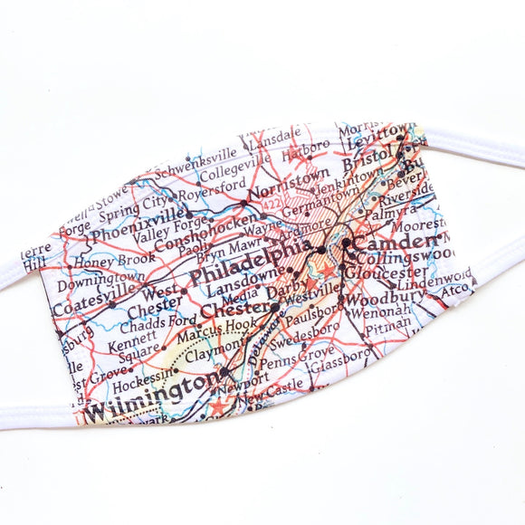Philadelphia Map Face Mask