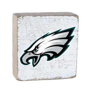 Philadelphia Eagles Team Color Rustic Block