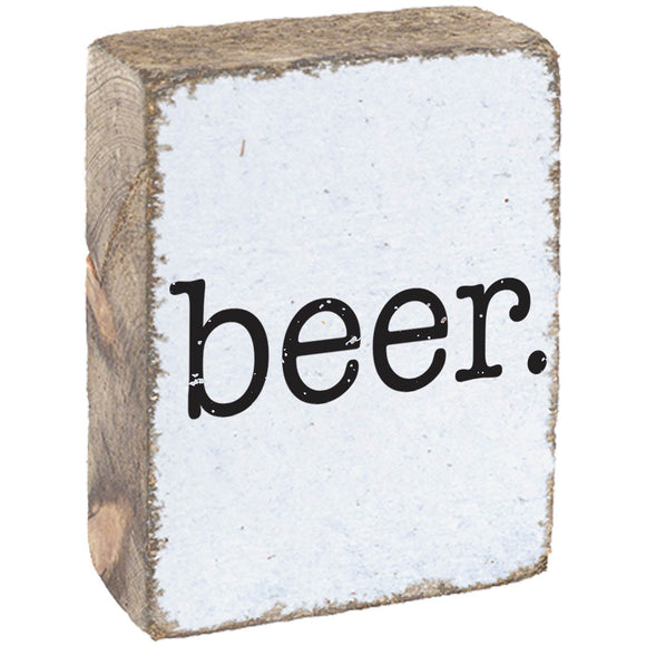 Beer. Rustic Block