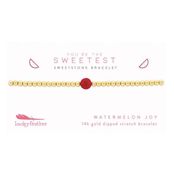 Sweet Stone Bracelets-Watermelon Joy
