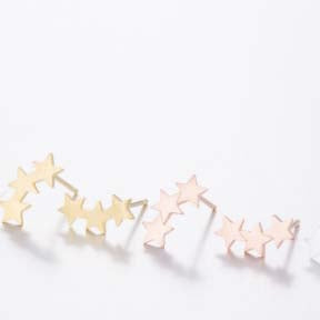Triple Stars Stud Earrings