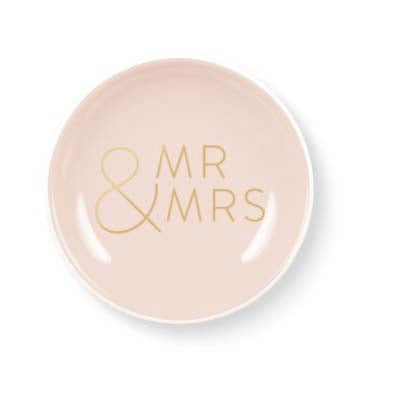 Mr and Mrs Round Mini Tray