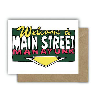 Card: Welcome to Main Street Manayunk