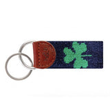 Shamrock Needlepoint Key Fob