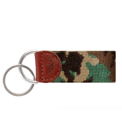 Camo Needlepoint Key Fob