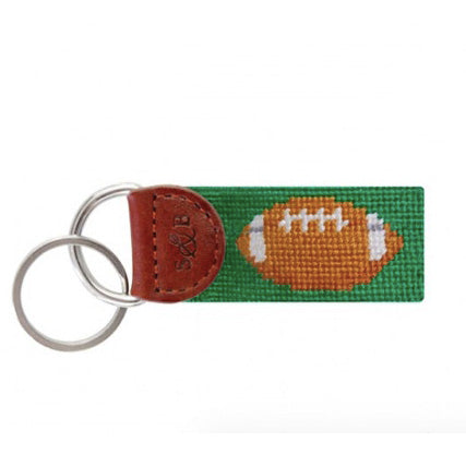 Football Needlepoint Key Fob