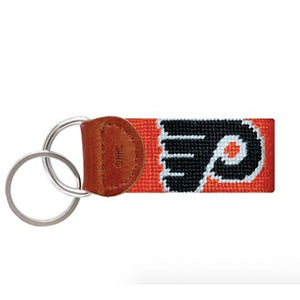 Flyers Needlepoint Key Fob