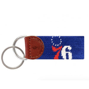 76ers Needlepoint Key Fob