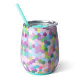 Confetti Party 14oz Insulated Stemless Wine Glass