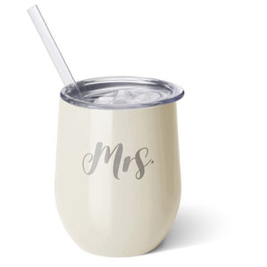 Mrs. Insulated Stemless Wine Cup
