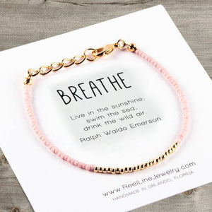 Minimalist Bracelets - Gold - Breathe