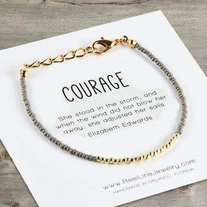Minimalist Bracelets - Gold - Courage