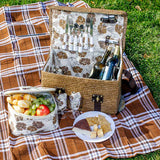 Insulated Picnic Basket Equipped for 2 Persons