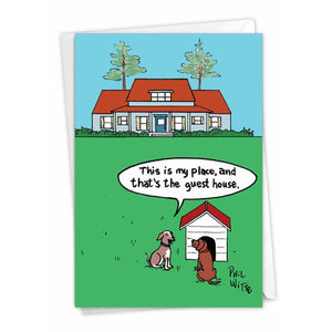 Dog Place - Funny New Home Card