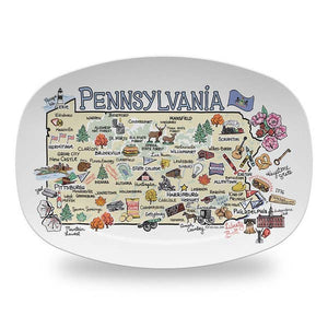 Pennsylvania Map Platter